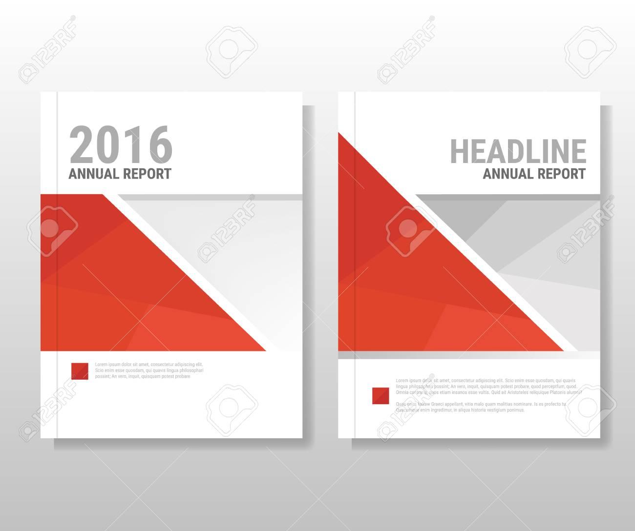 Informe Anual Rojo Folleto Brochure Folleto Plantilla Diseño De ...