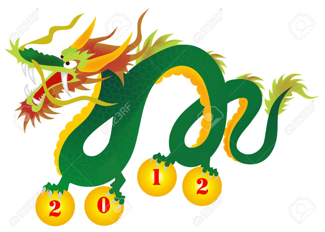 illustration of the dragon Stock Vector - 10174301