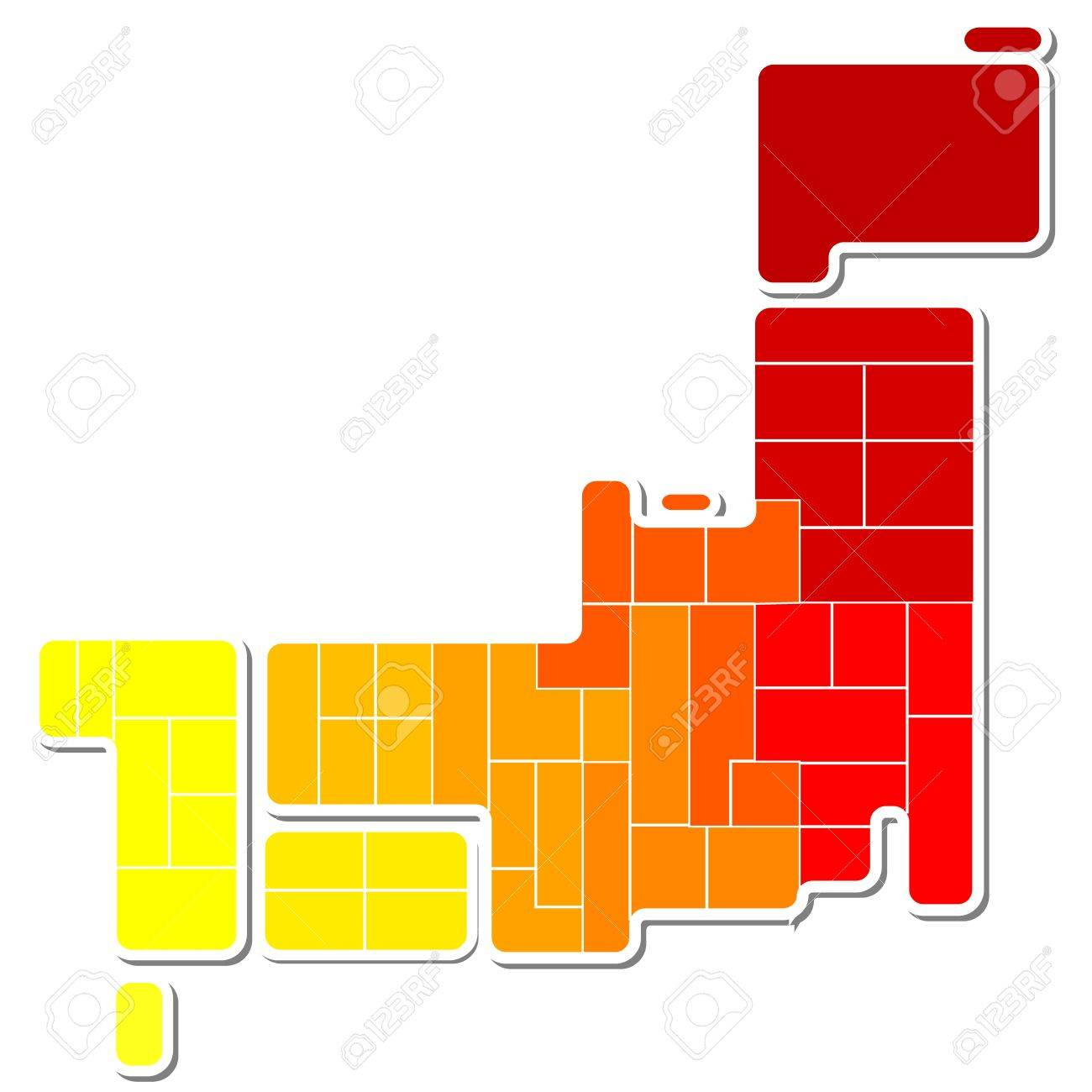 map of japan Stock Vector - 15814657