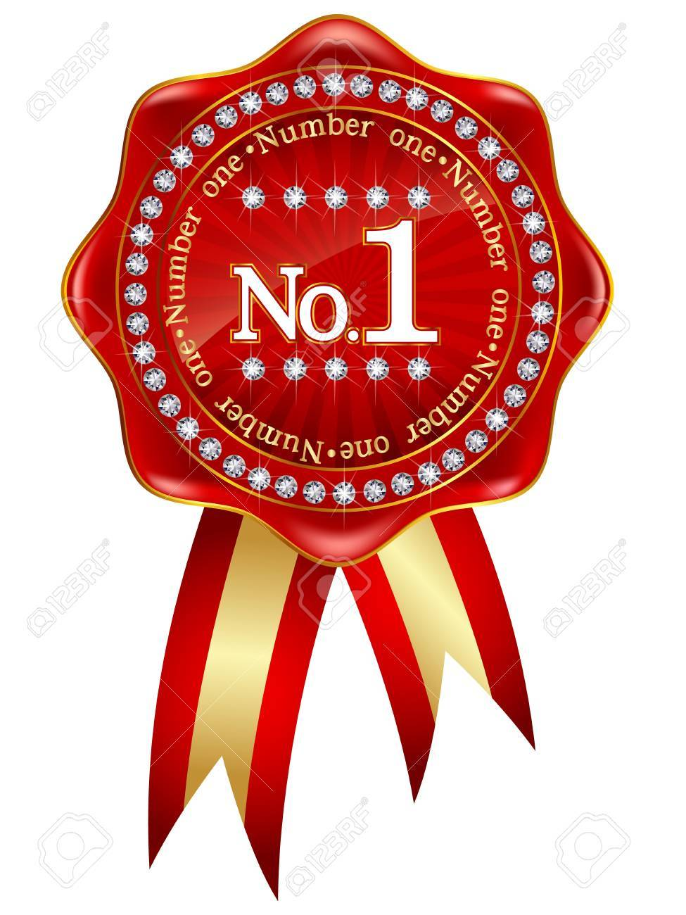Number one red frame Stock Vector - 18002904