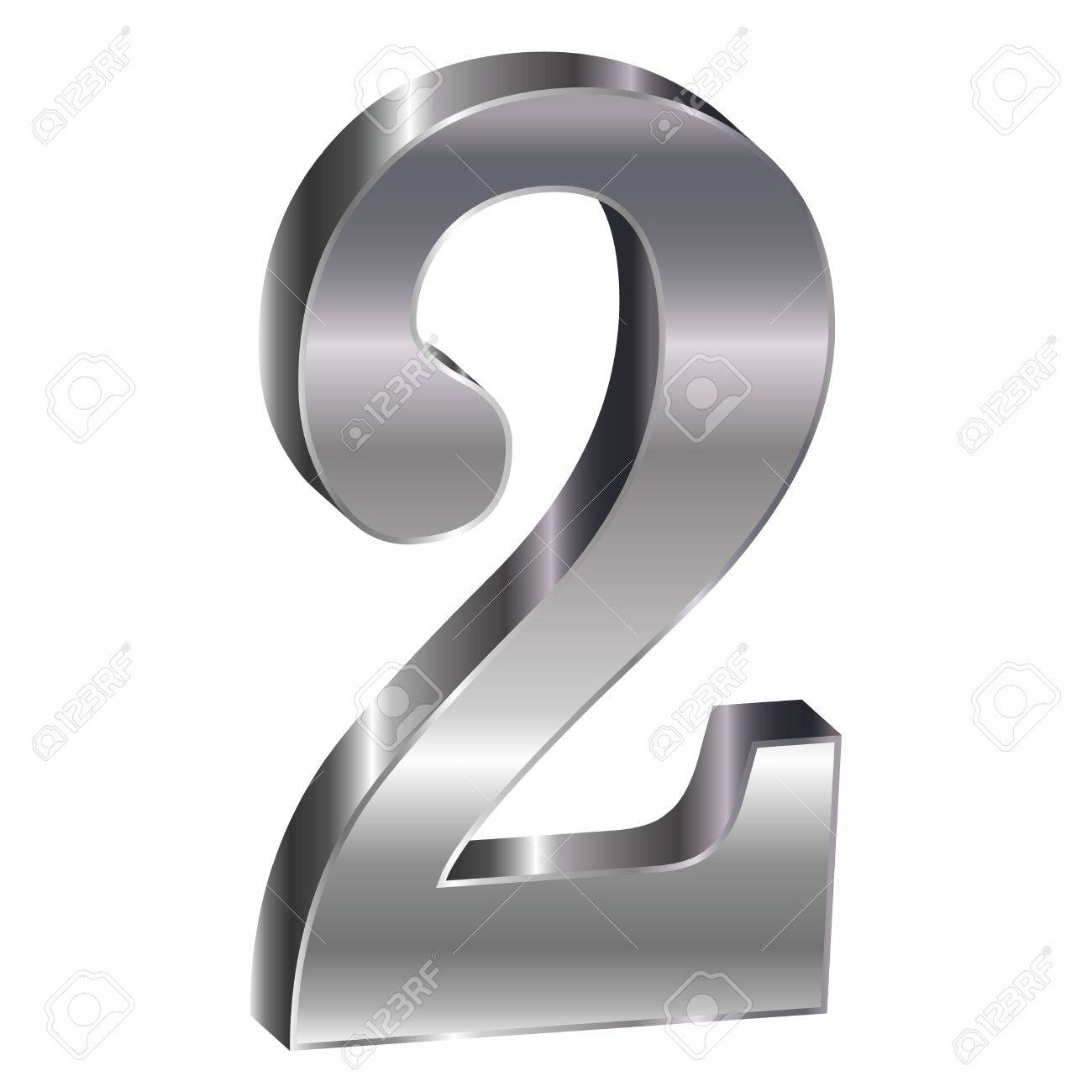 Silver Emblem Number Royalty Free Cliparts Vectors And Stock - 2