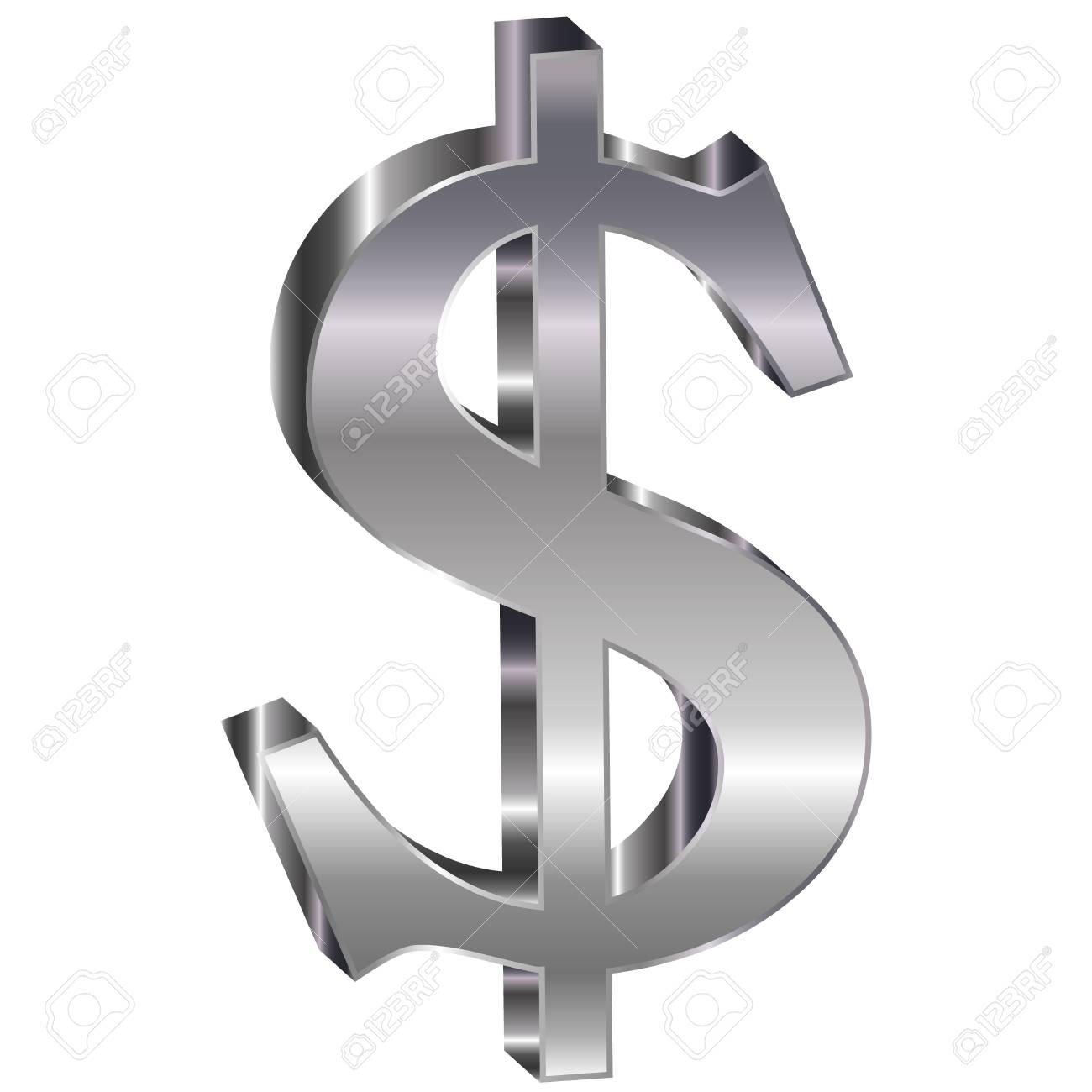Dollar emblem 3D Stock Vector - 18178757