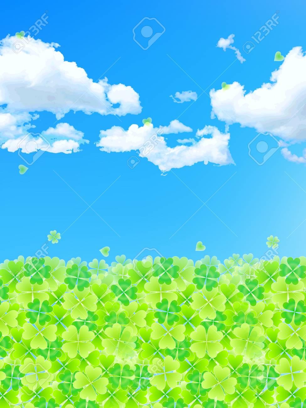 Summer background leaf clover Stock Vector - 18701480