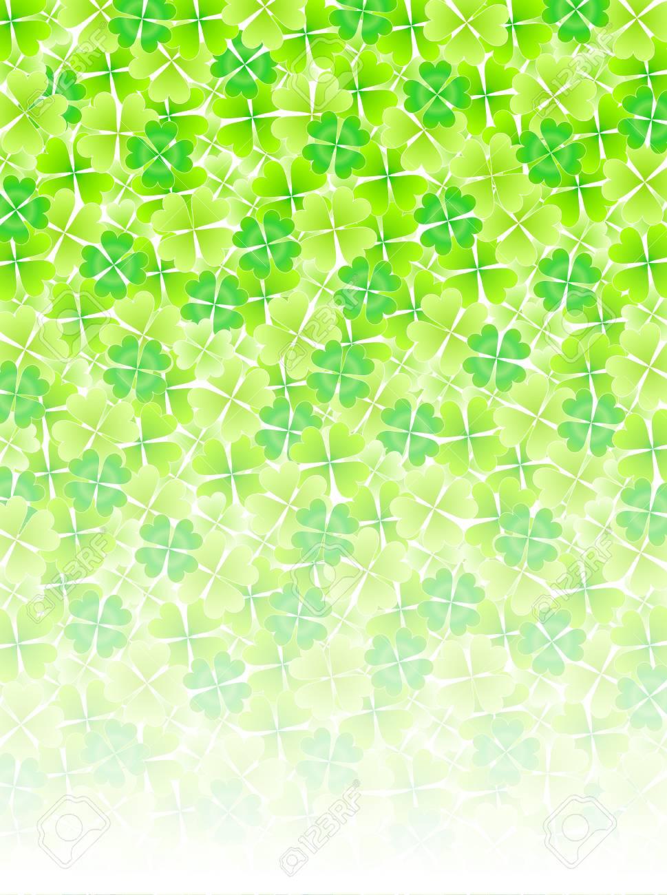 Four Leaf Clover leaf background Stock Vector - 18701503