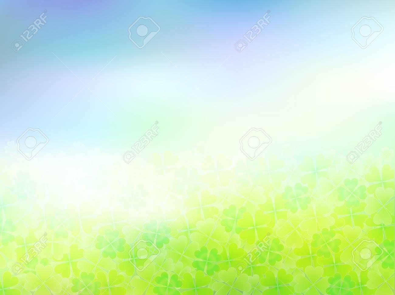 Clover background sky landscape Stock Vector - 18771071
