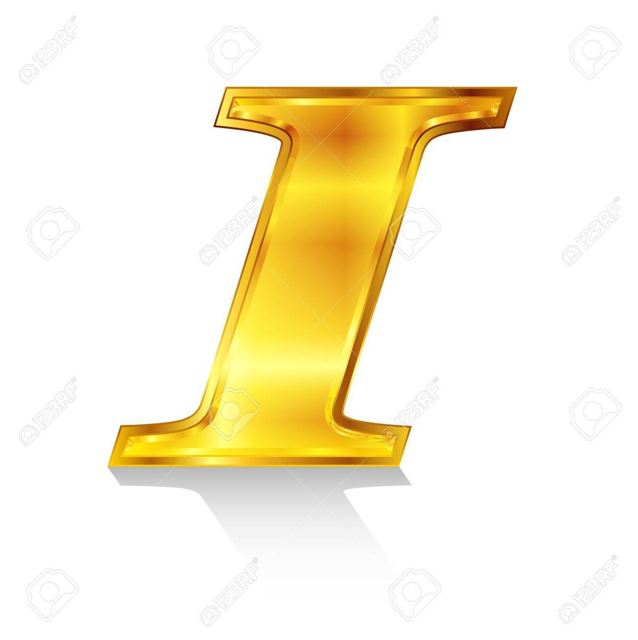 I emblem alphabet Stock Vector - 18869334