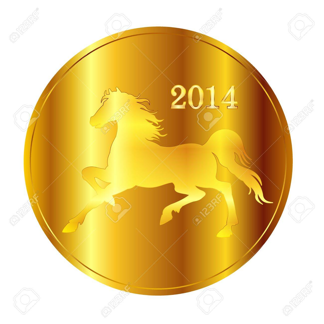 Horse gold medal Stock Vector - 21357968