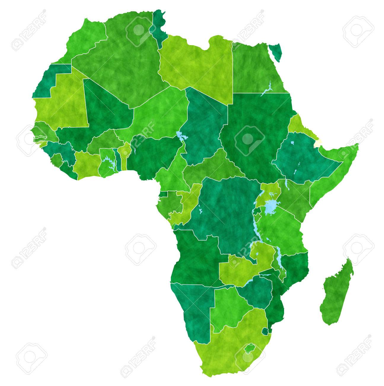 Africa Country Map Stock Vector   34755696
