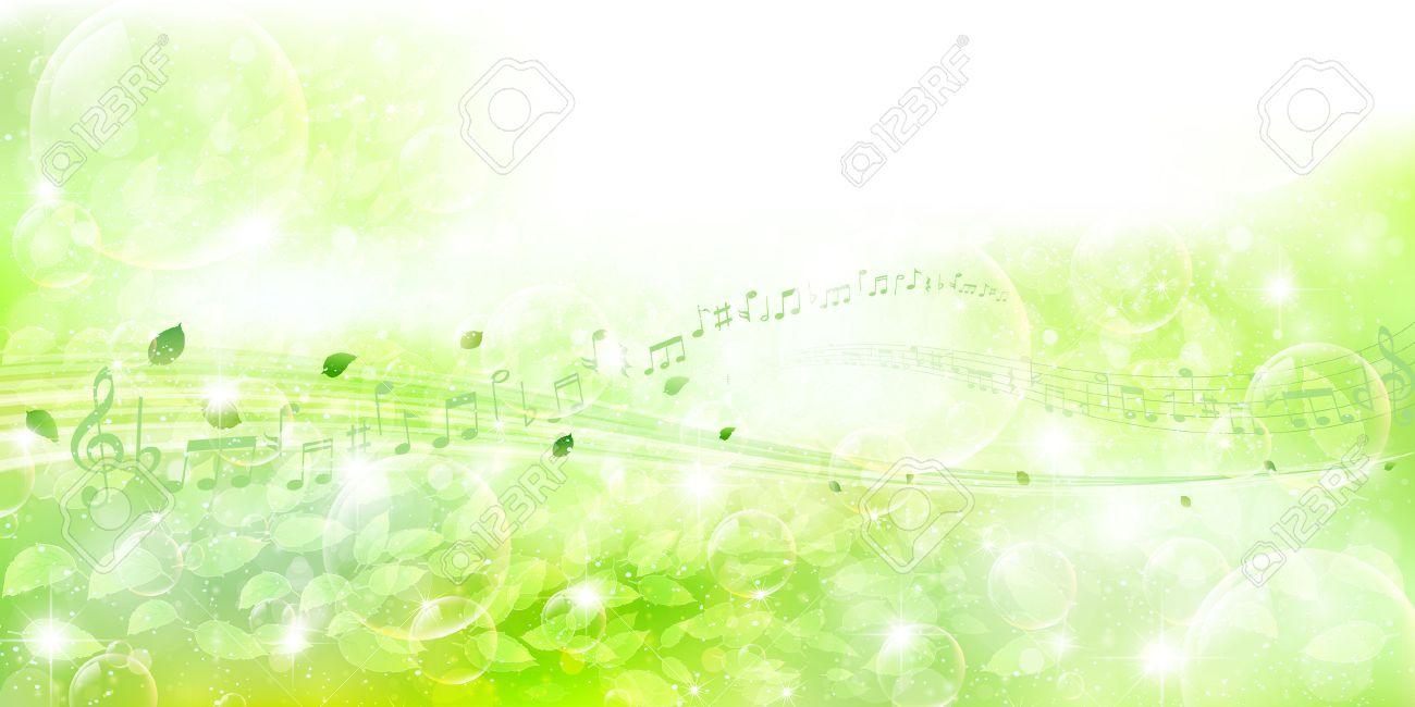 背景、雲、初夏、エコ、新鮮な緑、草、グリーン、イラスト、風景、葉