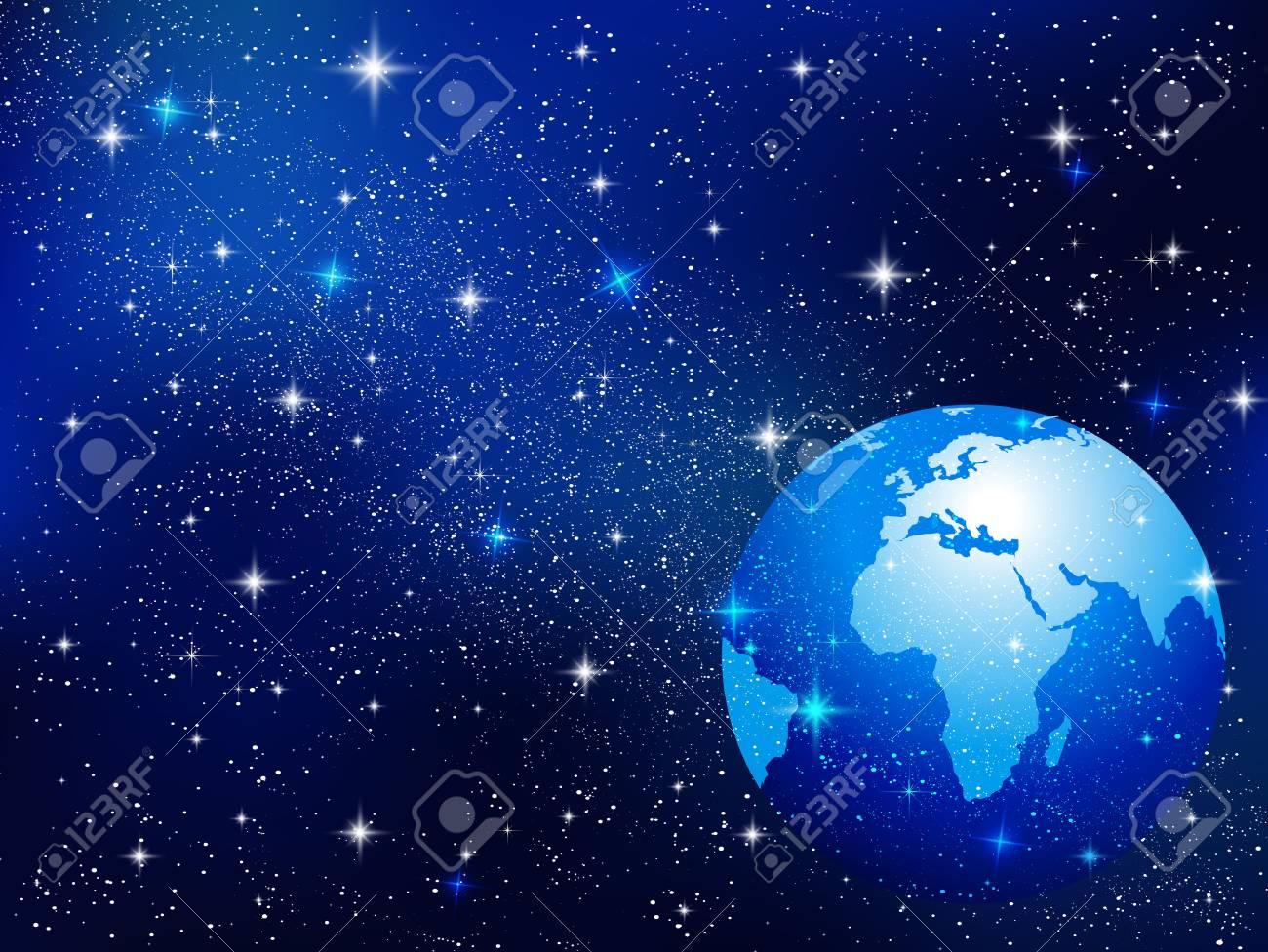 地球と宇宙の背景のイラスト素材 ベクタ Image 38105133