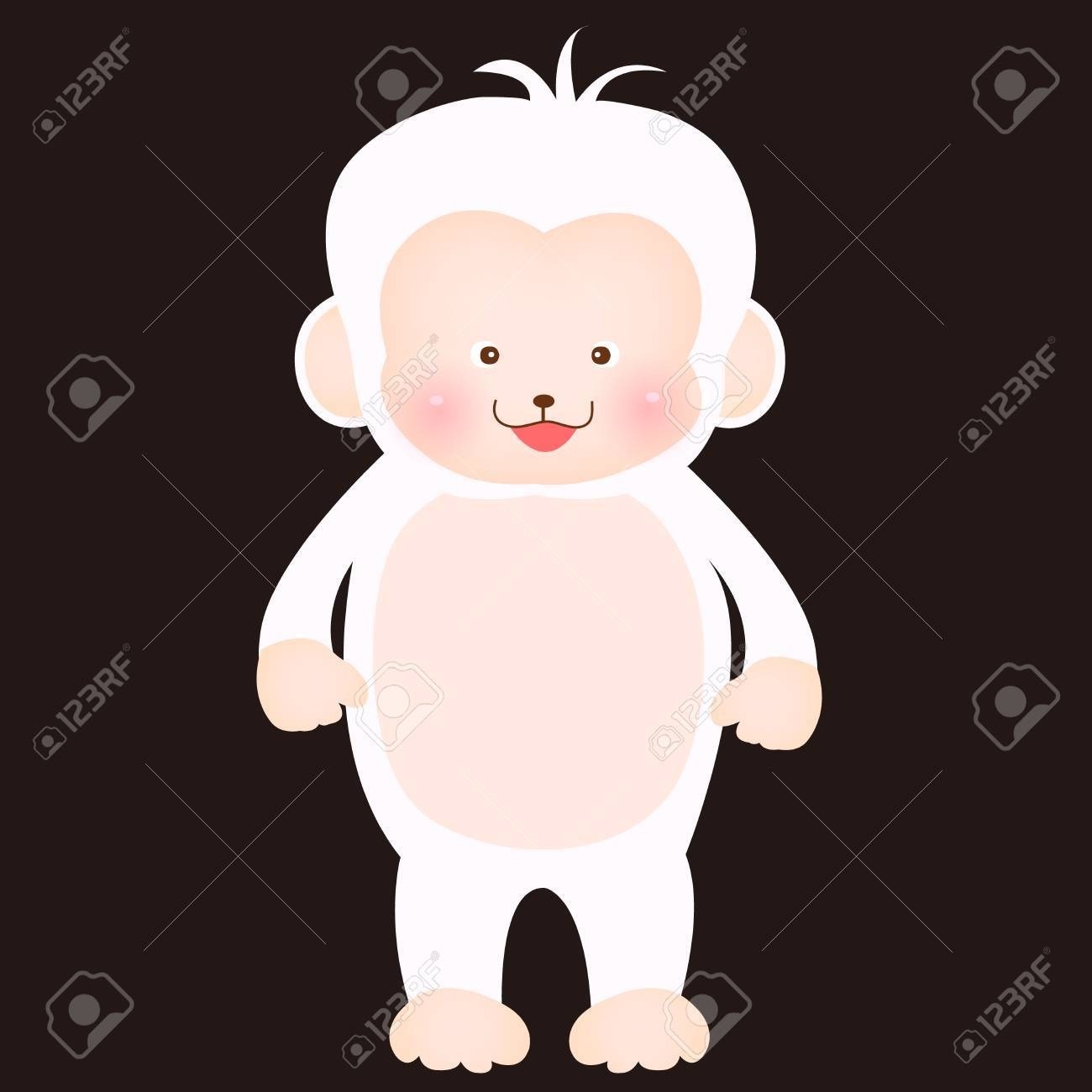 Cute Monkey Greeting Cards Royalty Free Cliparts Vectors And Stock