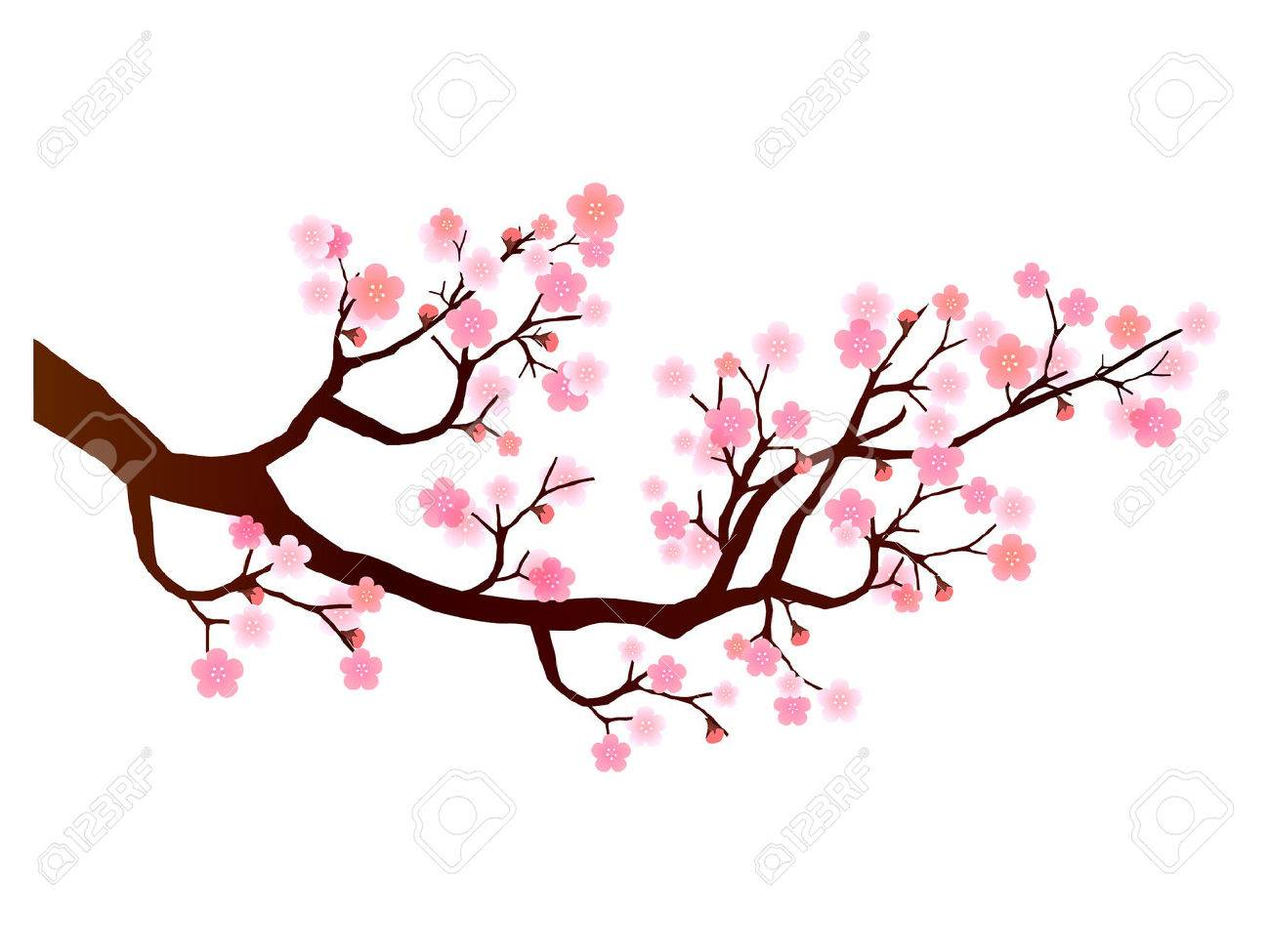 Plum flower icon royalty free cliparts vectors and stock plum flower icon stock vector 47164543 dhlflorist Images
