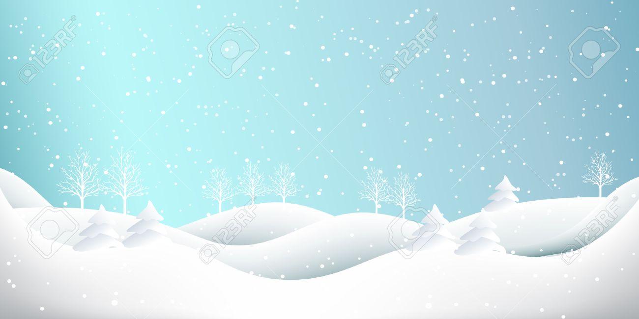 Snow Christmas winter background - 48002966