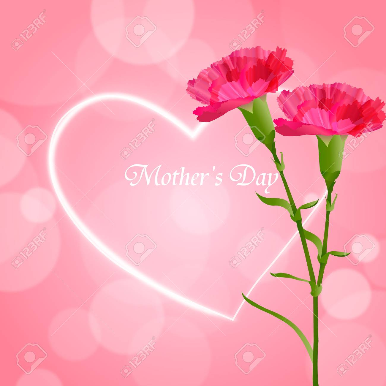 Mother's Day carnation flower background - 53716147
