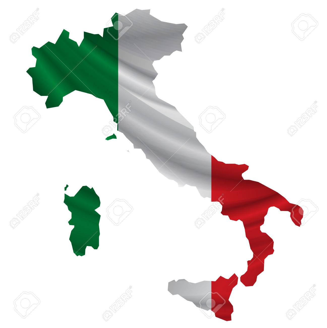 Italy Flag map icon - 54615993