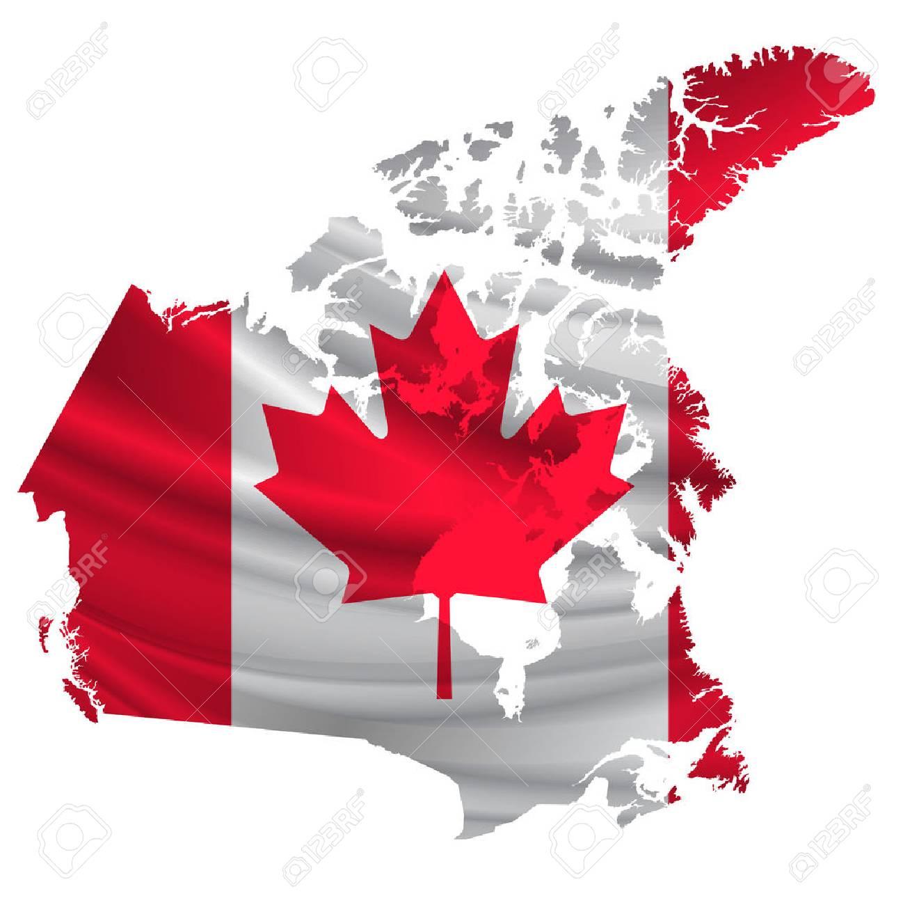 Canada Flag map icon - 54616000