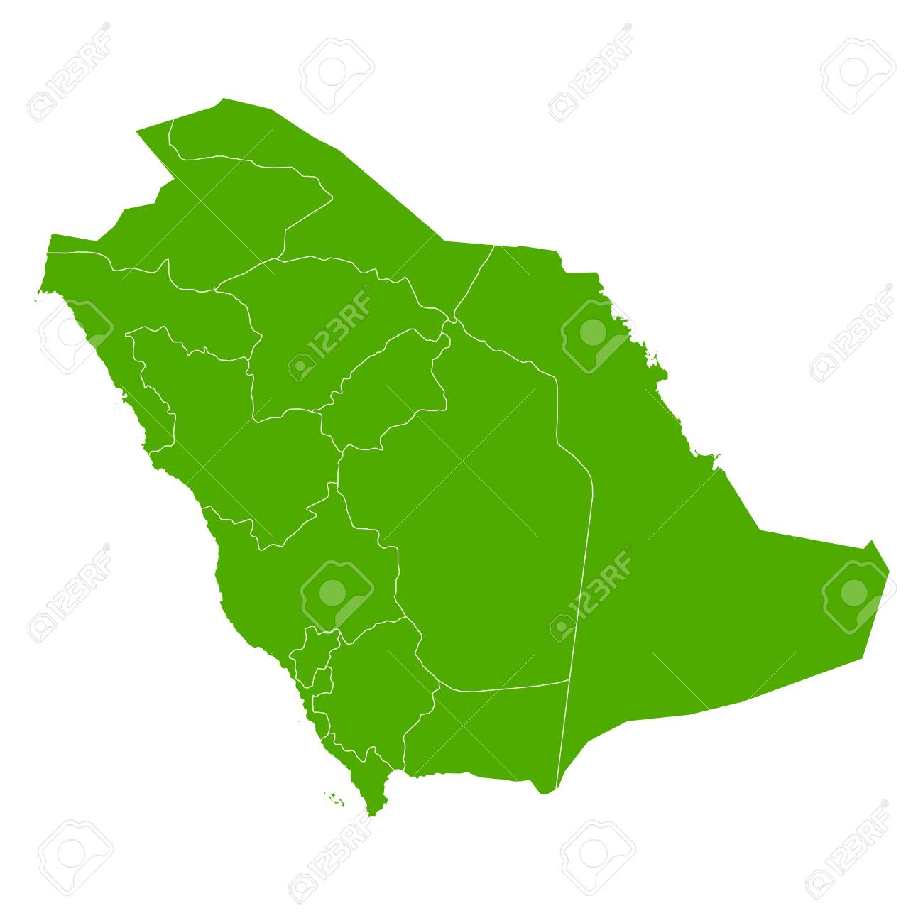 Saudi Arabia Map Country Icon Royalty Free Cliparts, Vectors, And ...