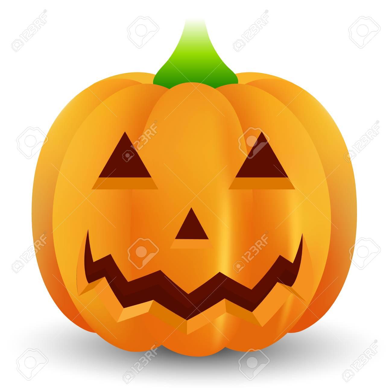 ハロウィンのかぼちゃおばけアイコンのイラスト素材ベクタ Image