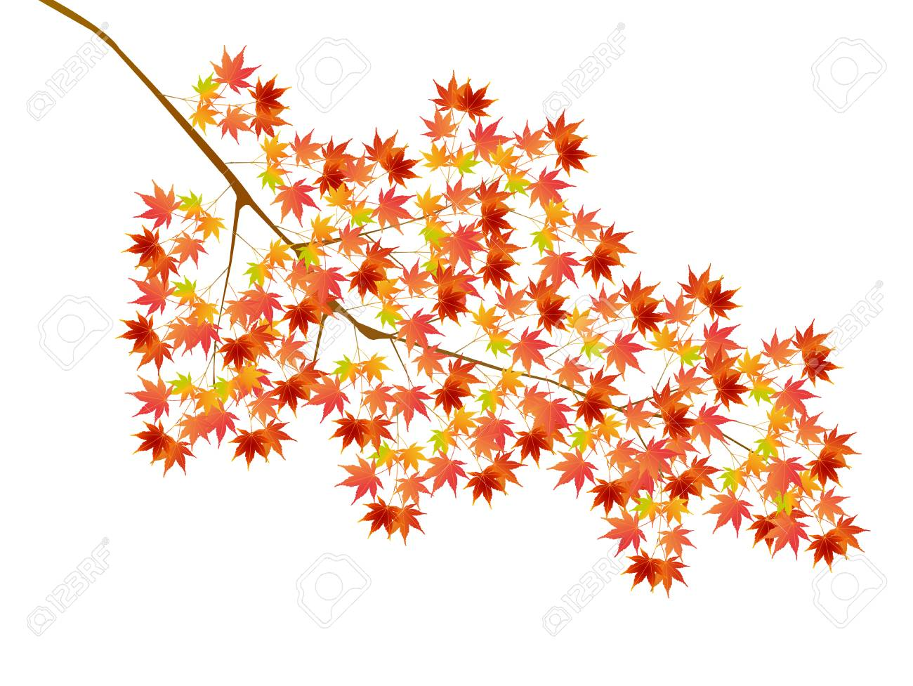 Autumn Leaves Fall Tree Icon Royalty Free Cliparts Vectors And Stock Illustration Image 63264761