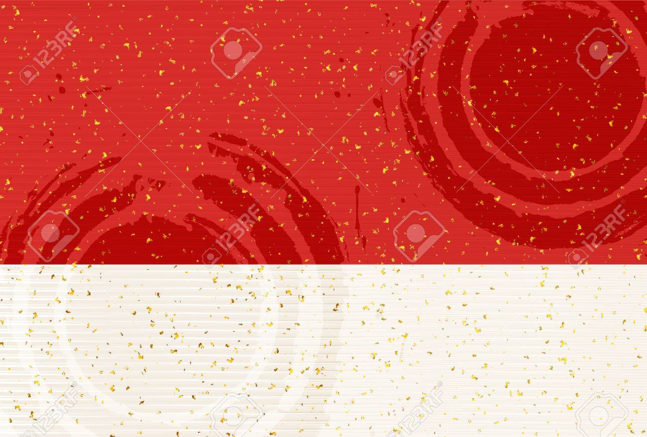 Japanese paper greeting card pattern background - 64290875