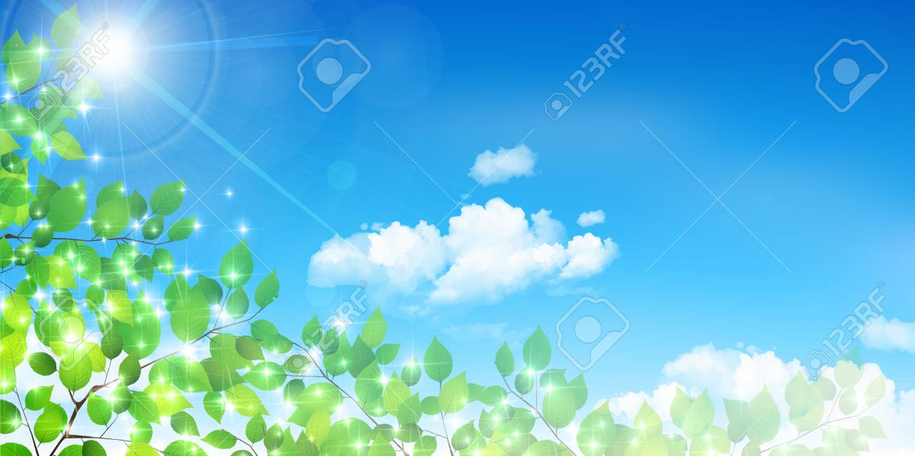 fresh green natural scenery background royalty free cliparts
