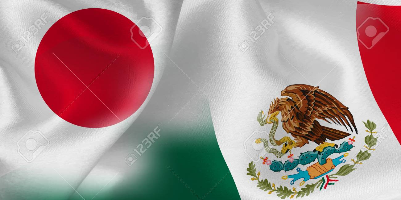 Japan Mexico Flag Background Royalty Free Cliparts Vectors And