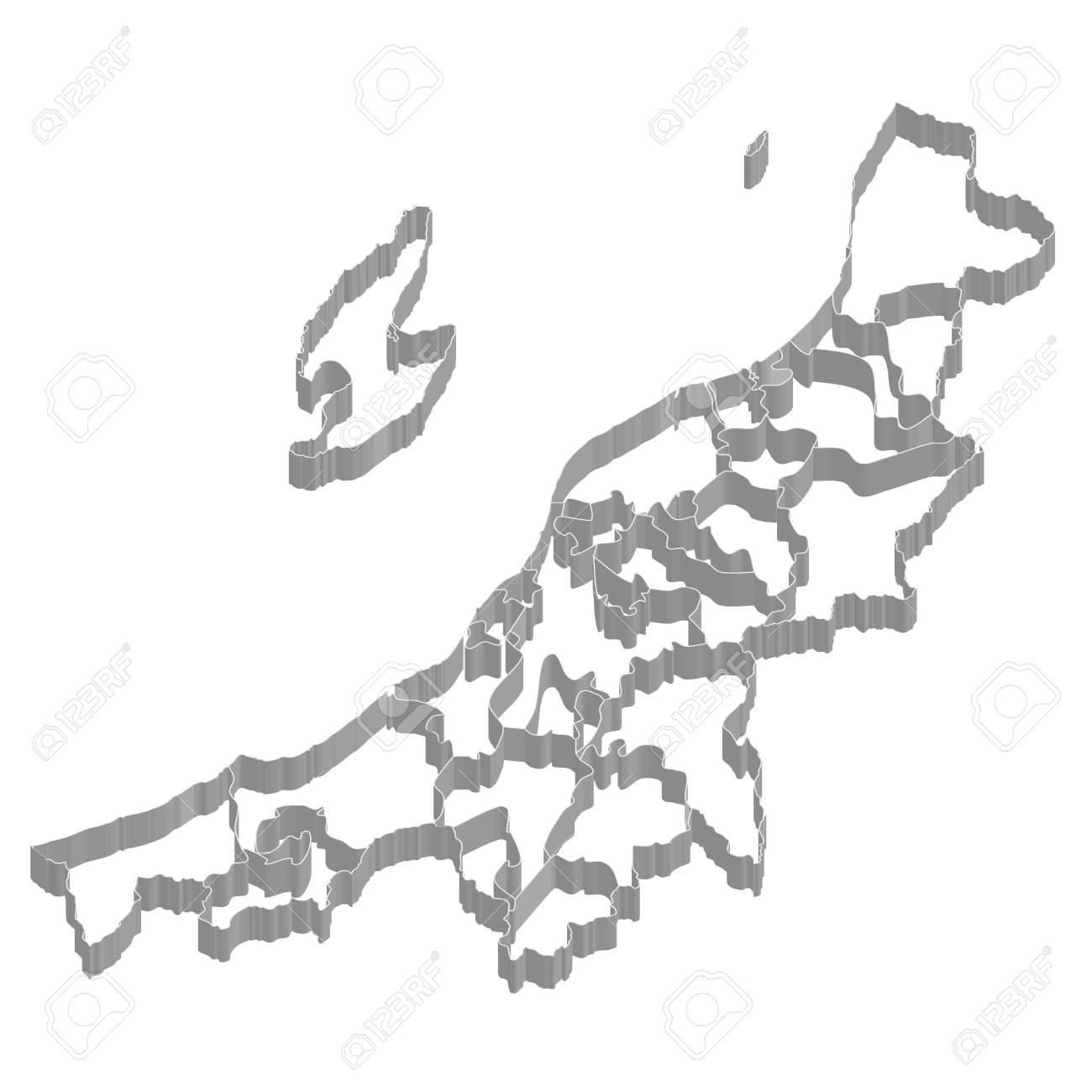 新潟県地図フレーム アイコン