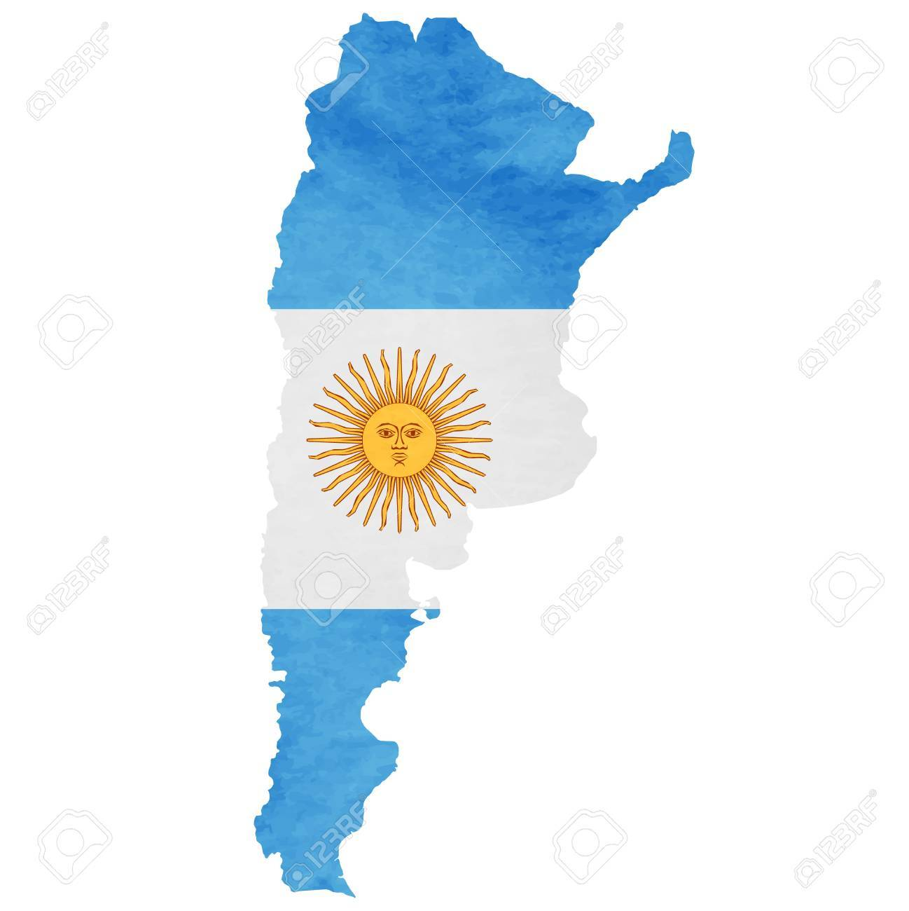 Argentina Map National Flag Icon Royalty Free Cliparts, Vectors, And ...