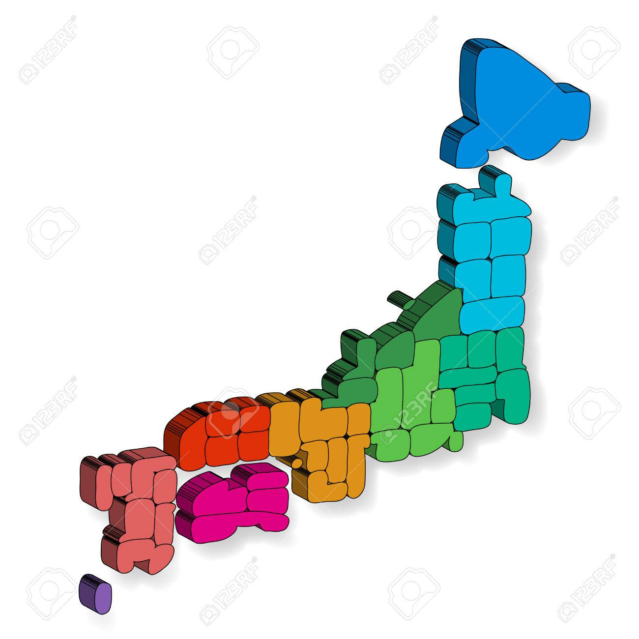 Japan Map D Icon Royalty Free Cliparts Vectors And Stock - Japan map 3d