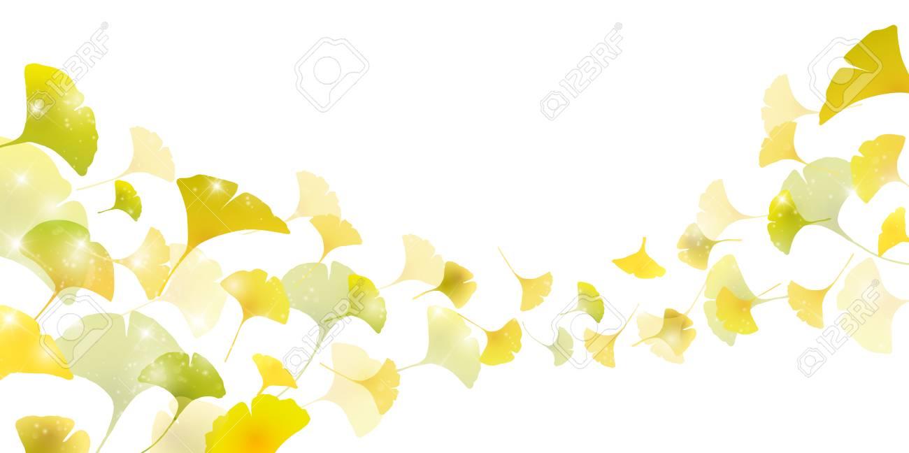 イチョウ葉秋背景イラスト。 ロイヤリティフリークリップアート
