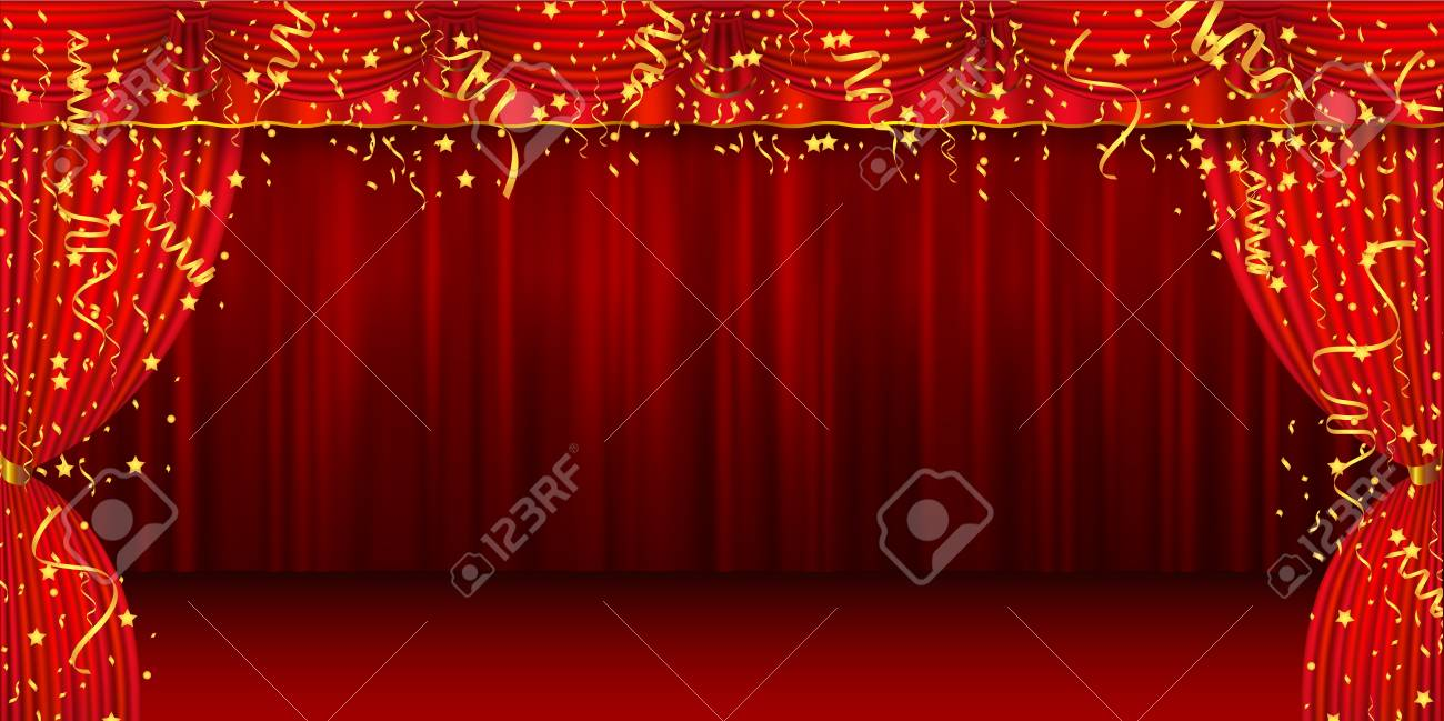 Christmas curtain stage background - 84358842