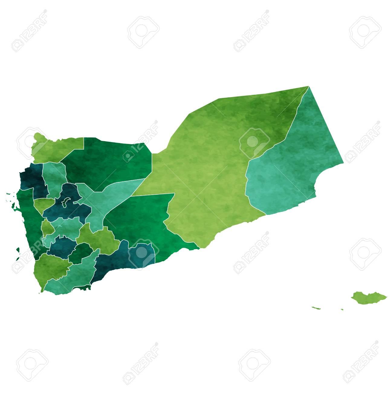 Yemen World map country icon.