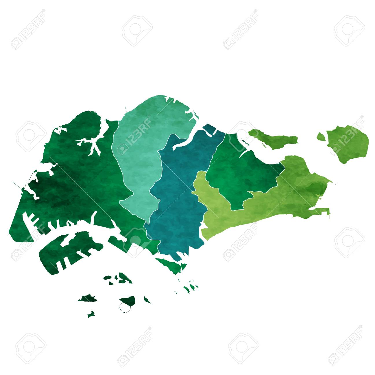 Singapore World Map Country Icon Royalty Free Cliparts Vectors And
