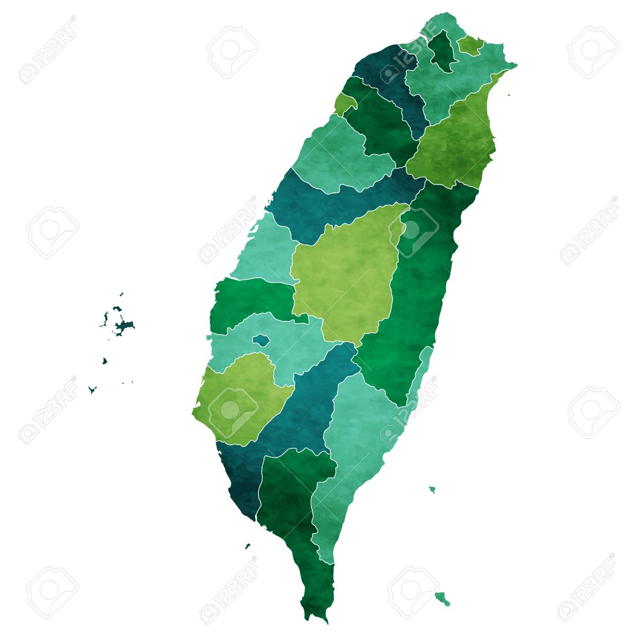 Taiwan World map country icon - 93838321