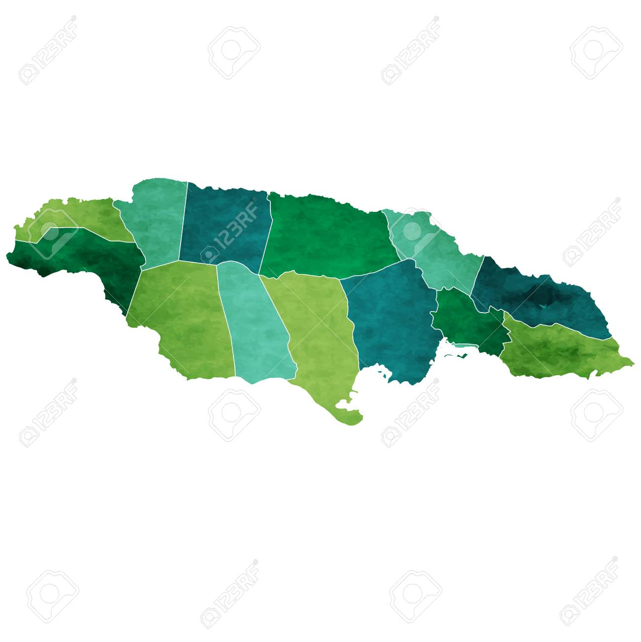 Jamaica World map country icon