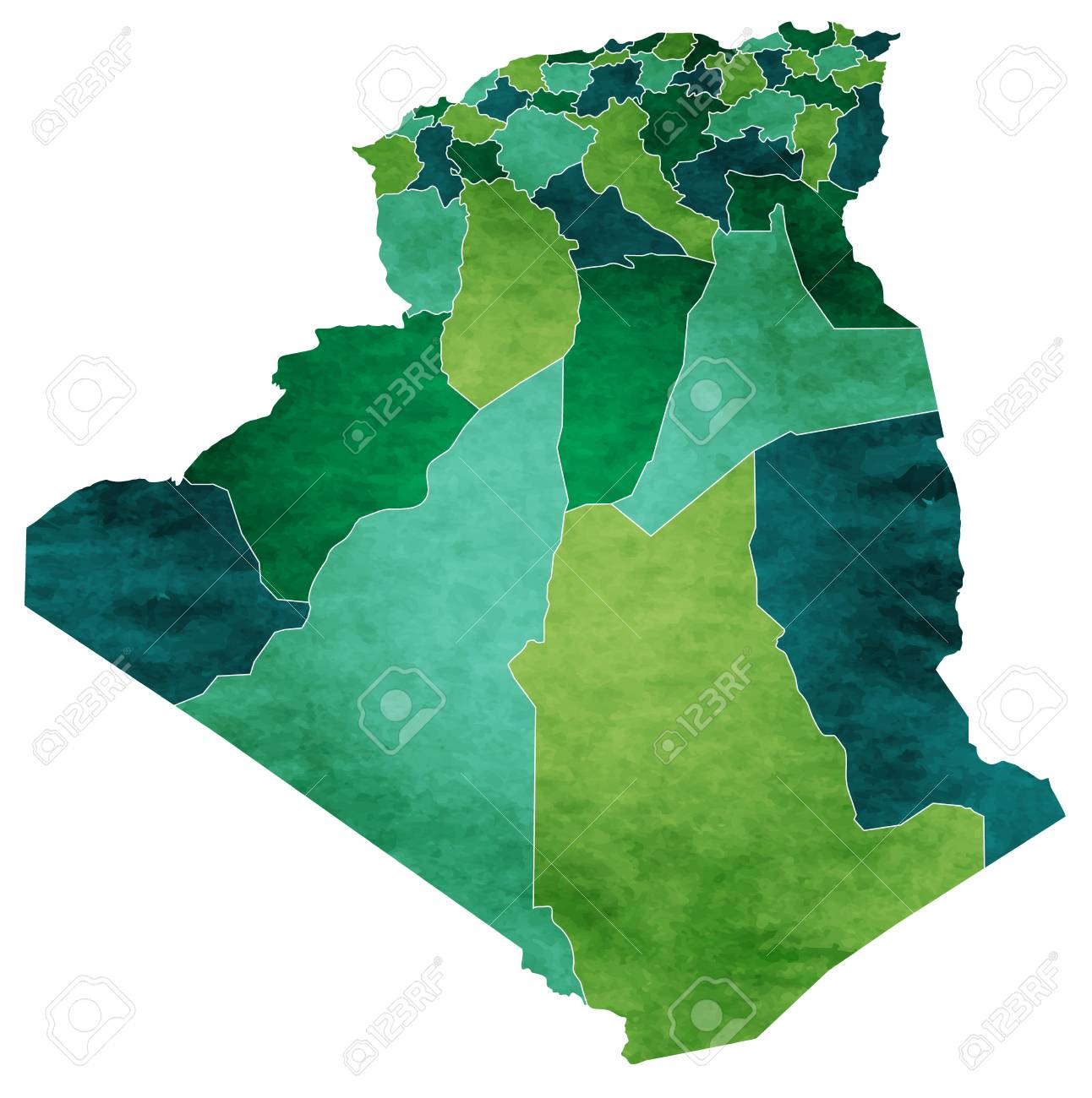 Algeria World map country icon