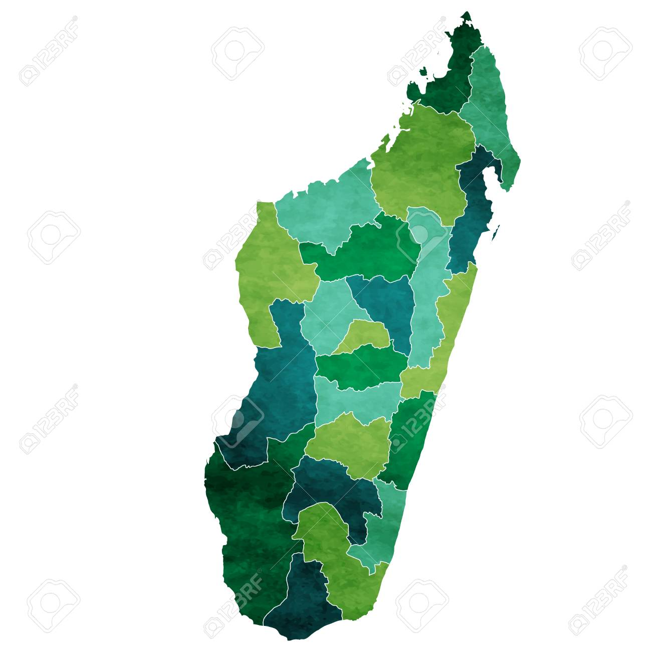 Madagascar World map country icon