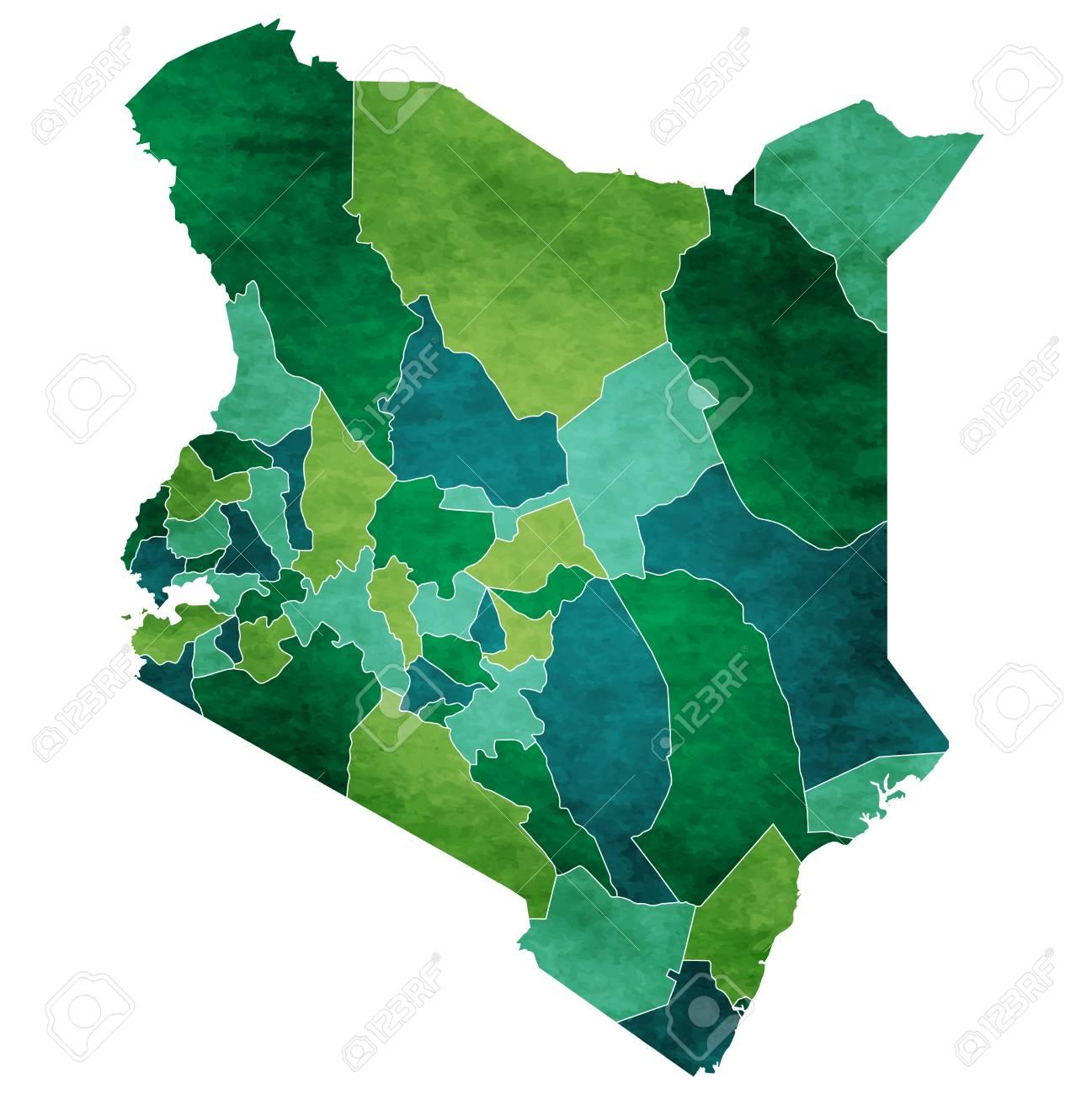 Kenya World Map Country Icon Royalty Free Cliparts Vectors And