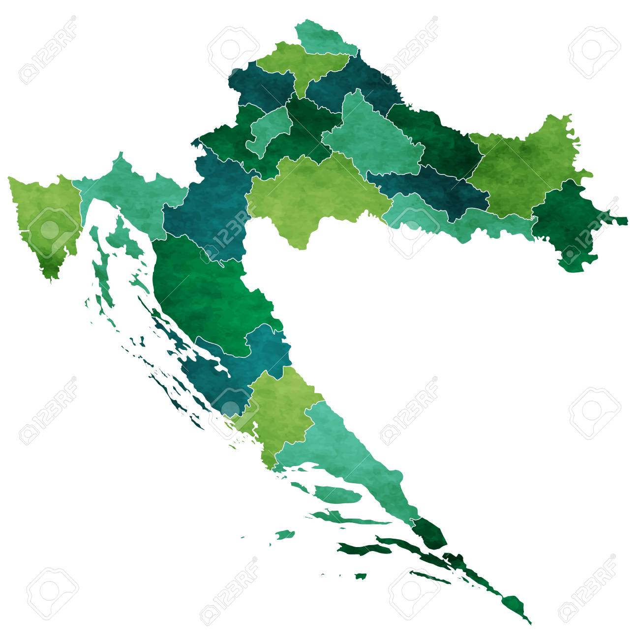 Croatia World Map Country Icon Royalty Free Cliparts, Vectors, And ...