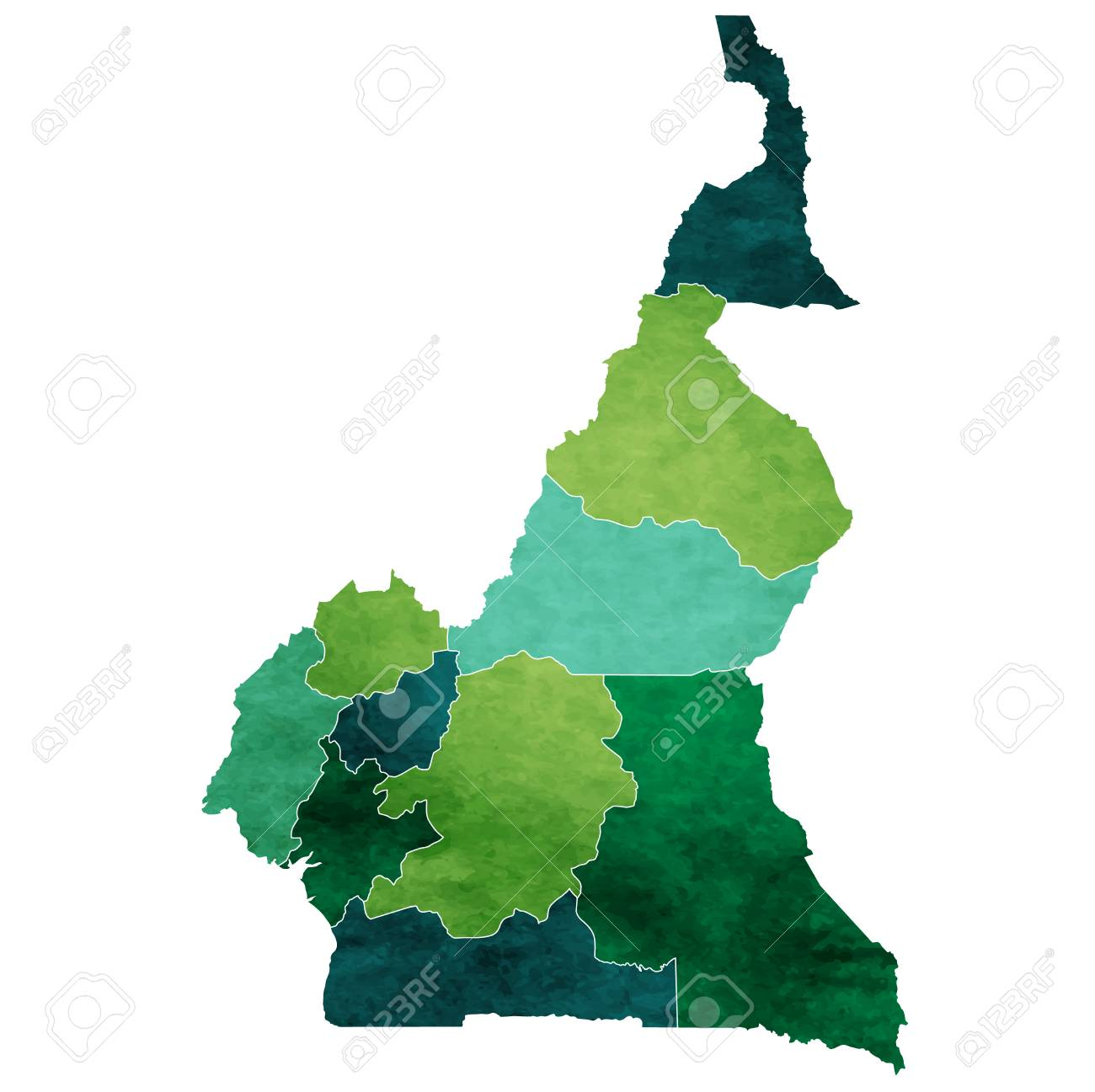 Cameroon World map country icon