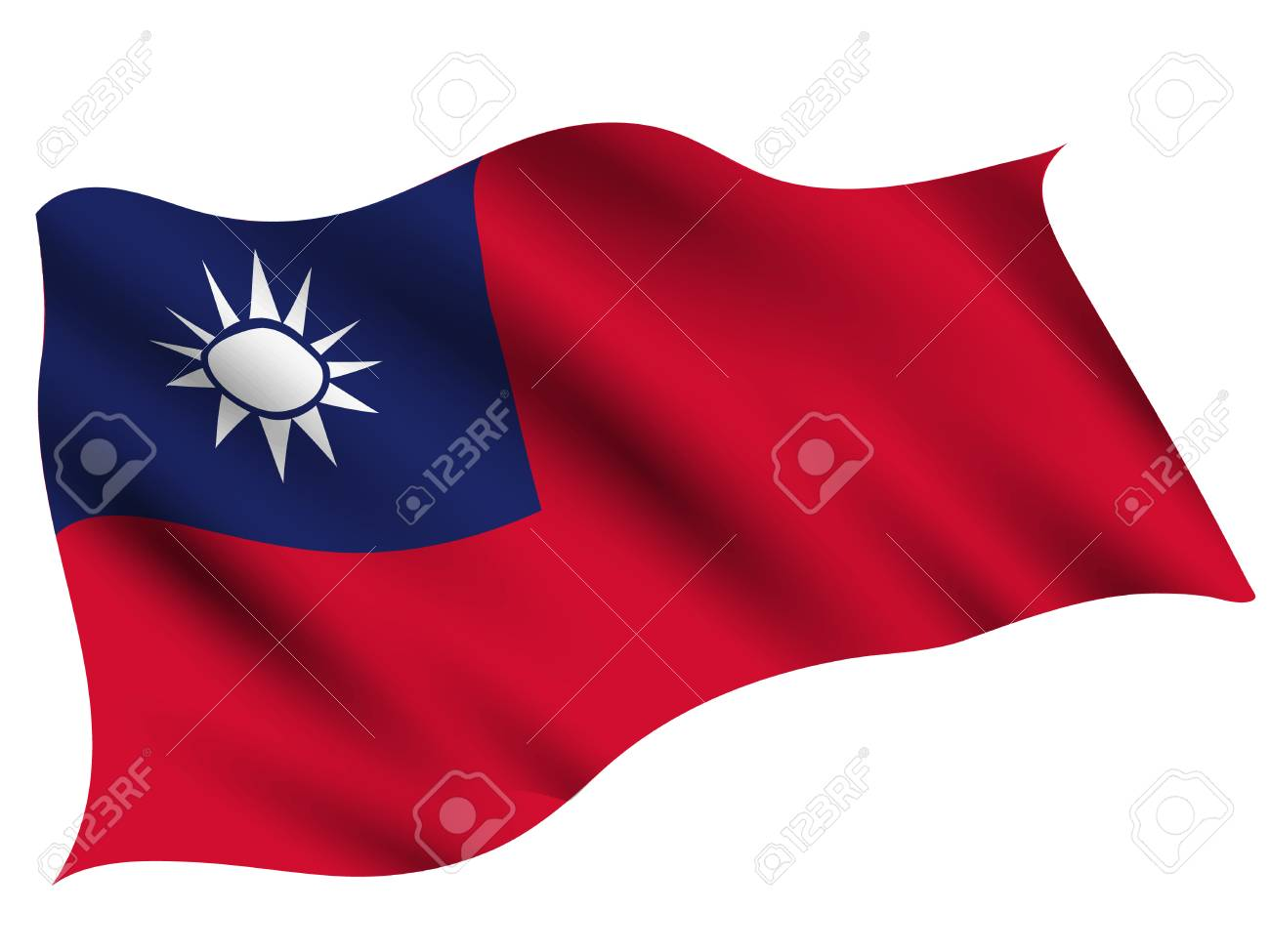 Taiwan Country flag icon - 117455672
