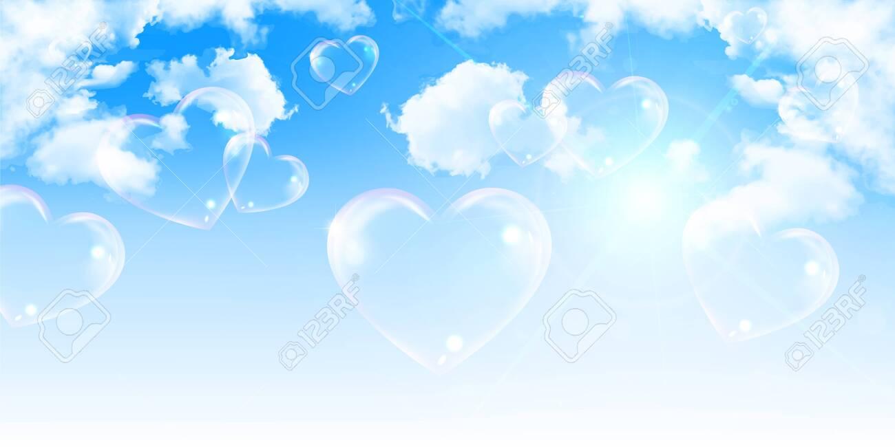 Heart valentine sky cloud background - 137531597