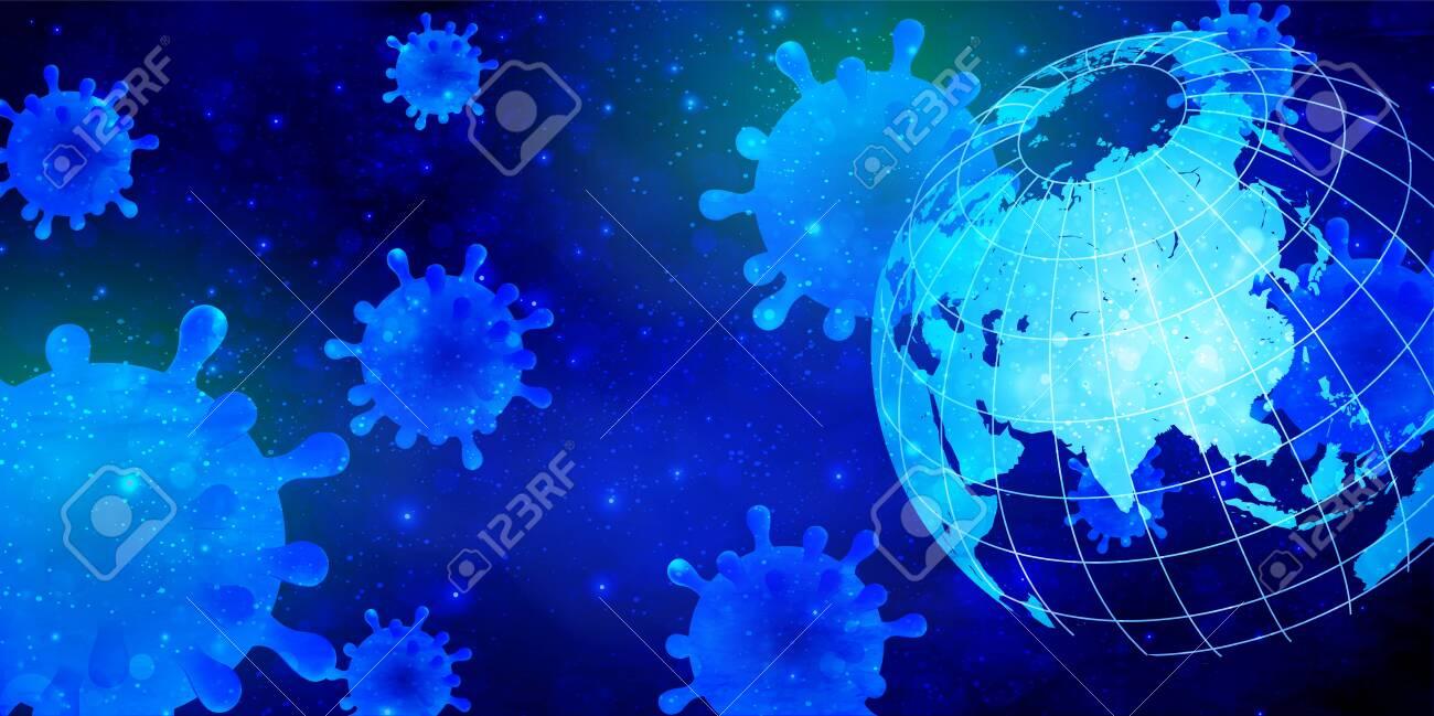 Corona virus bacillus world background - 142220298