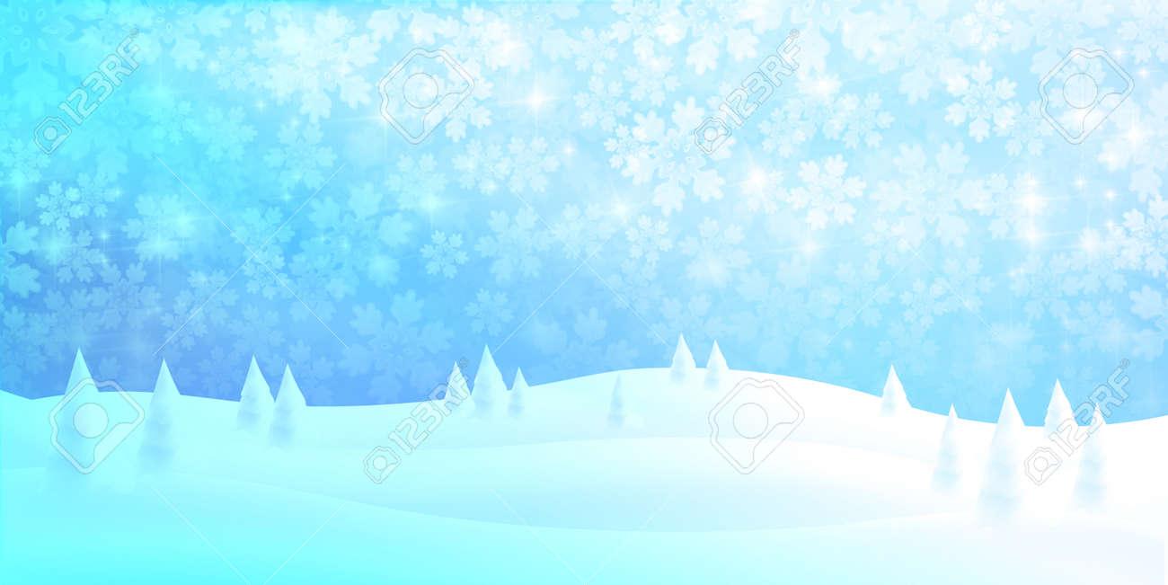 Christmas snow winter sky background - 155390252