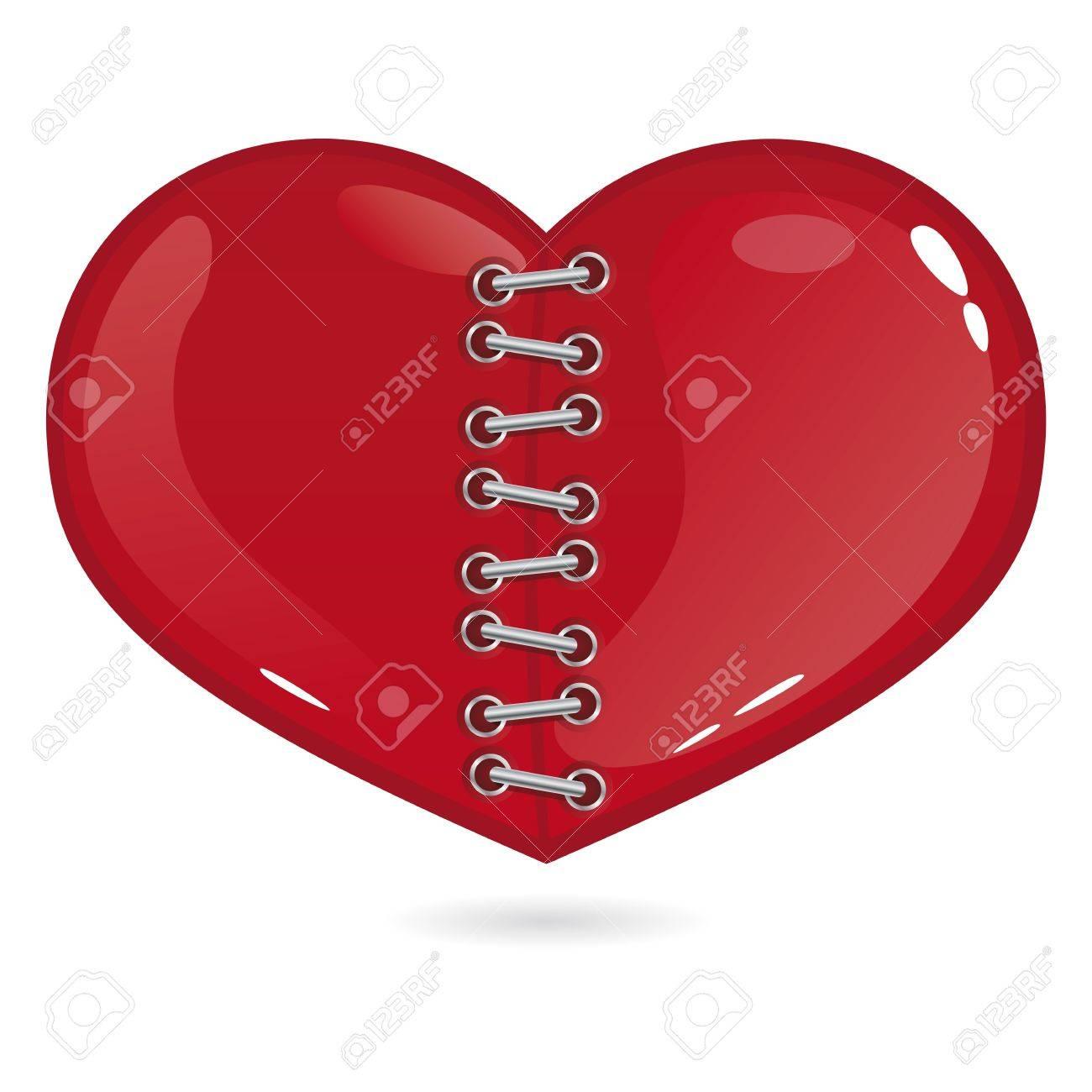 Cut heart Stock Vector - 12117142