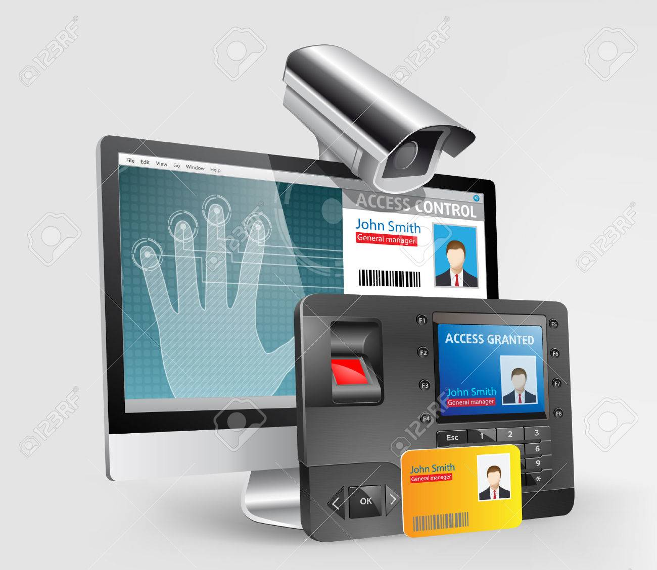 Access control system, fingerprint scanner and Mifare proximity reader - 47856996