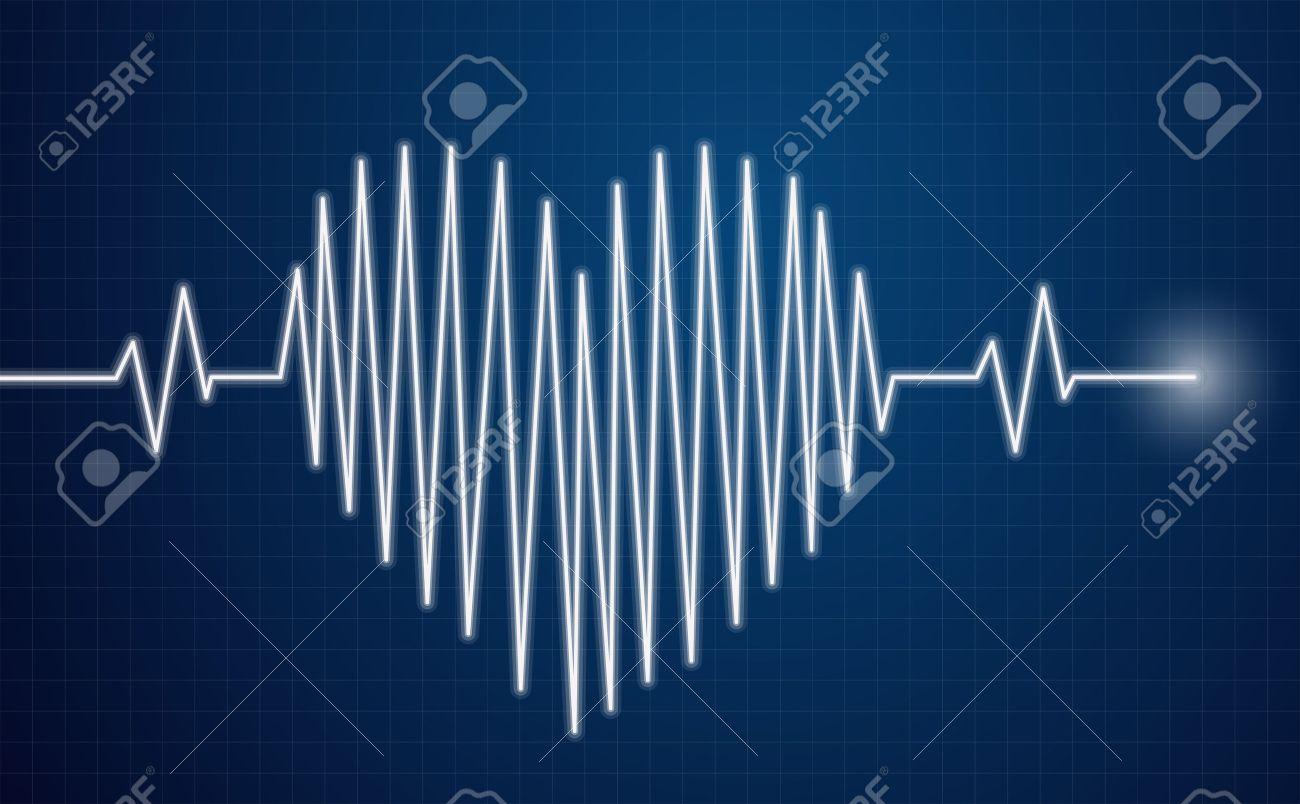 Heartbeat Sensor - heart line on moinitor - 48522918