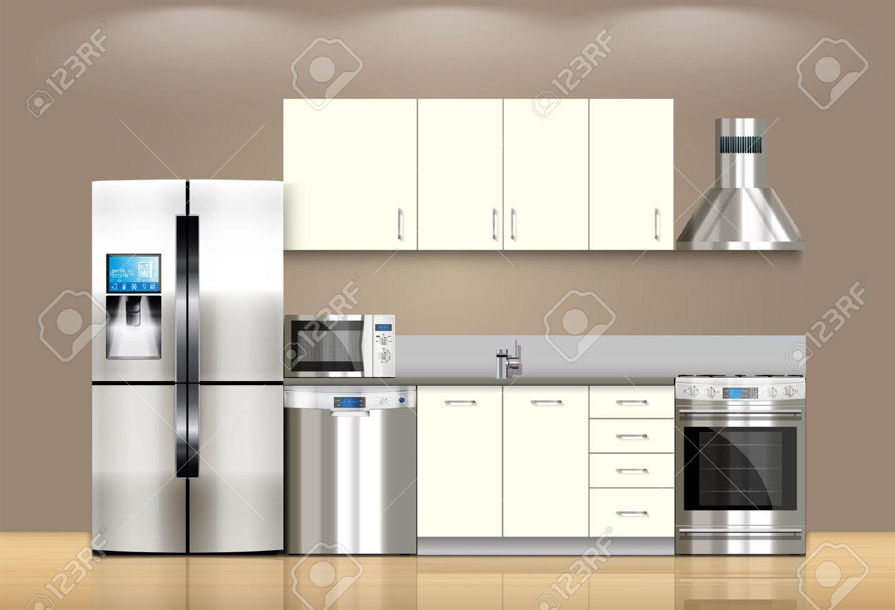 Kuche Und Haushaltsgerate Mikrowelle Waschmaschine Kuhlschrank