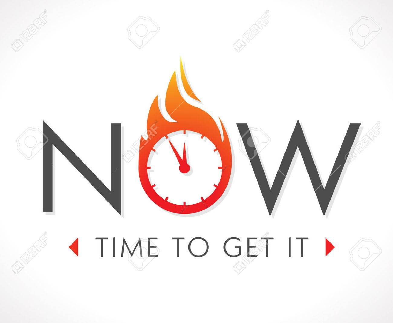 Logo - The time is now - 48538121