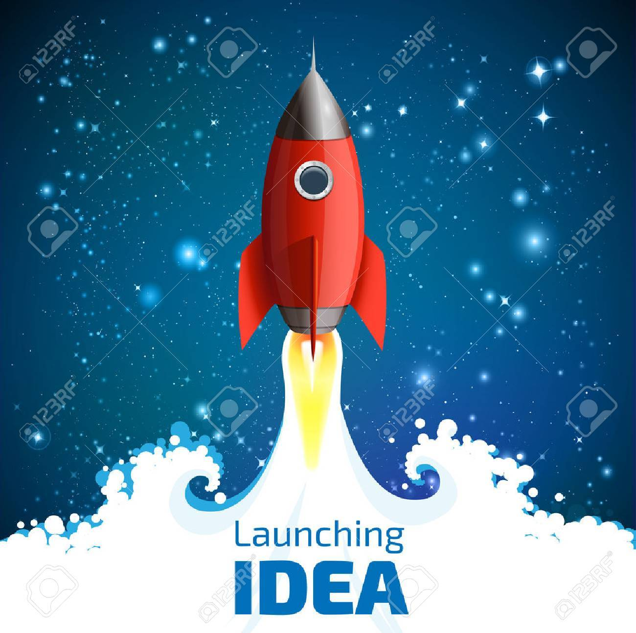 Rocket - launching the idea of concept - 48445888